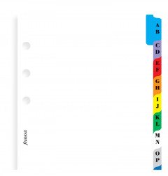 A-Z Index Personal Multi-Coloured - Two Letters Per Tab