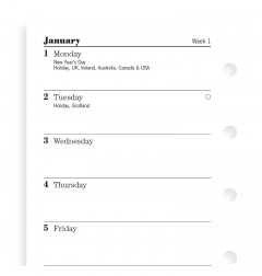 Week On One Page Diary Mini 2019