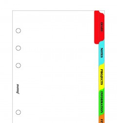 Subject index - Multi-coloured 6 tabs - Personal