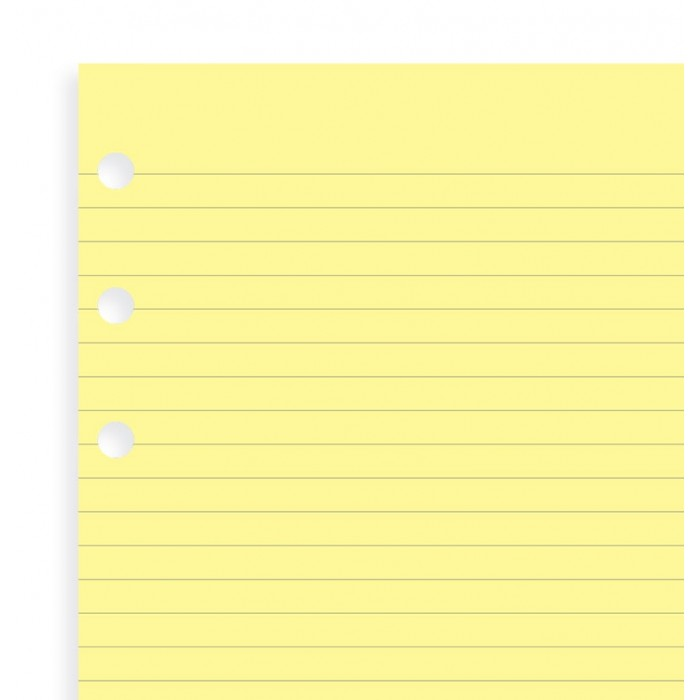 Yellow Ruled Notepad Personal Refill