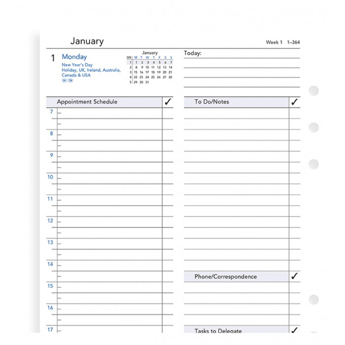 One Day On A Page Business Diary A5 2019