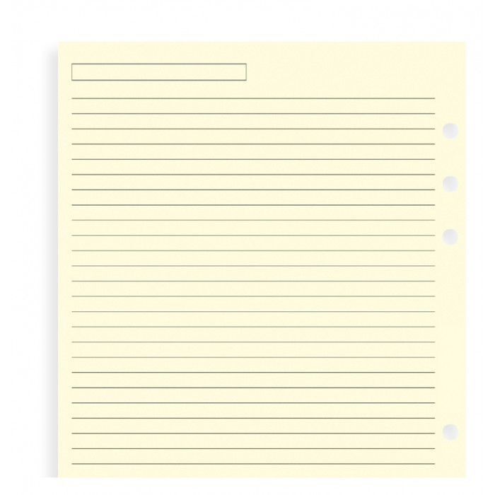 Cream Ruled Notepaper A5 Refill
