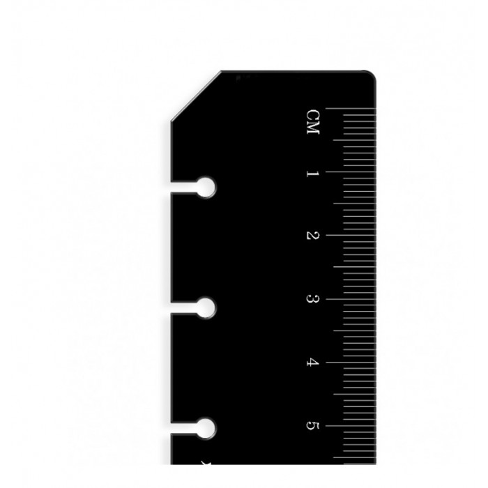 Ruler Page Marker Black