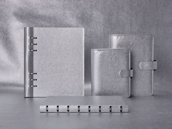 Filofax Saffiano Metallic Silver Collection
